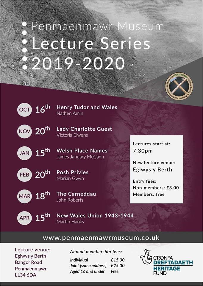 Penmaenmawr Museum Lecture Series